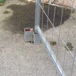 fiche pour barrière de chantier ID Acier