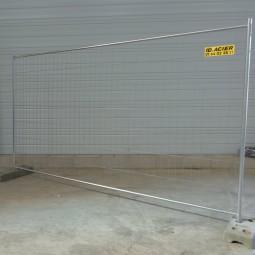 Barrière de chantier grillagée T4S 3.5m x 2m