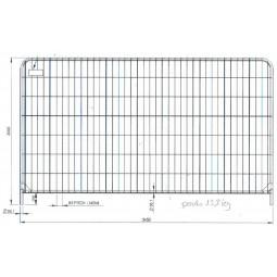 Barrière grillagée T4SC 3.50m x 2m
