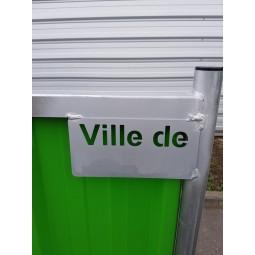 """Cloture de chantier pleine personnalisée """"Ville de"""""""