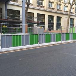 barrière de chantier mixte 3500 x 2000