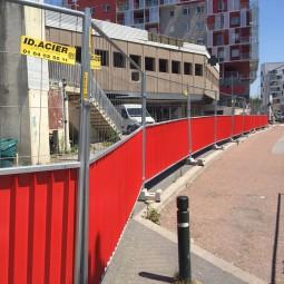 barrière de chantier mixte ID Acier