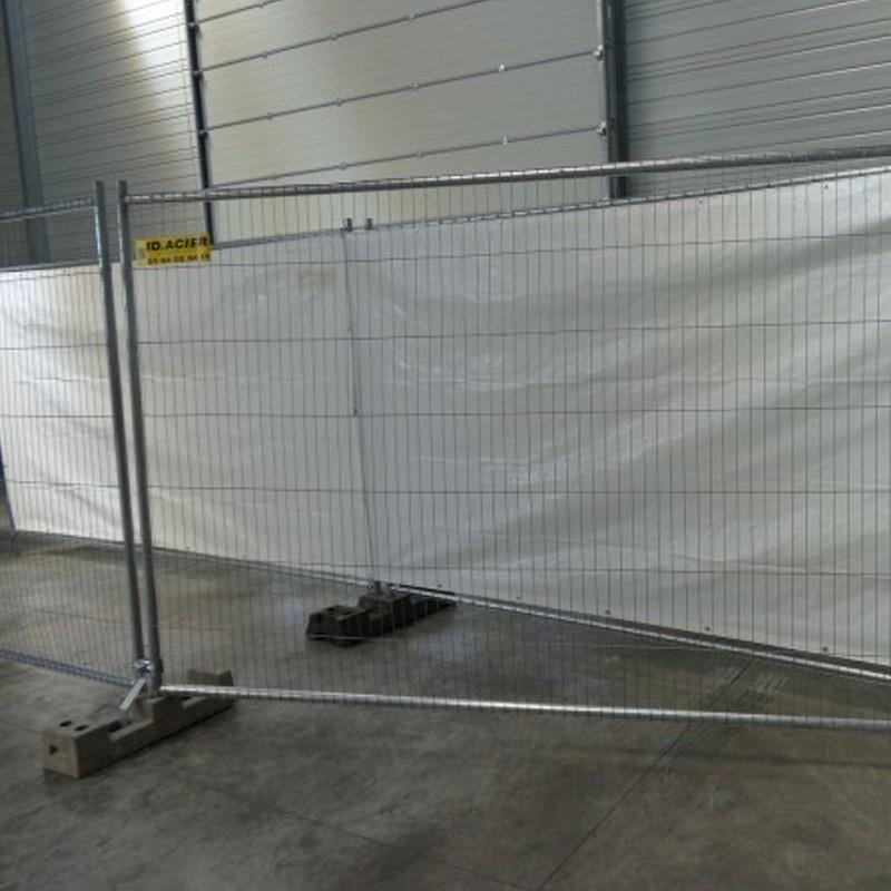 Barrière de chantier grillagée anti-vandalisme Eco