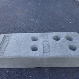 Plot béton pour barrière de chantier