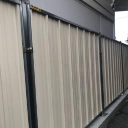 ID Protech clôture pleine de chantier en bac acier