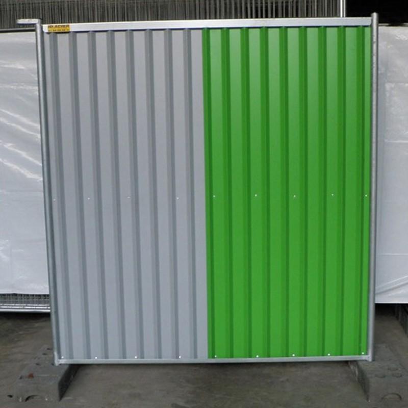 barriere de chantier pleine en bac acier 2 m de haut. Black Bedroom Furniture Sets. Home Design Ideas