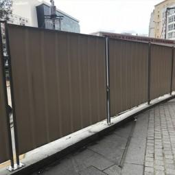 ID Protech clôture pleine bac acier