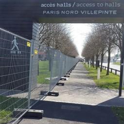 Barrière grillagée anti-vandalisme H intermat