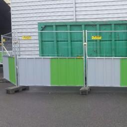 Barrière de chantier mixte 2.25m x 2m