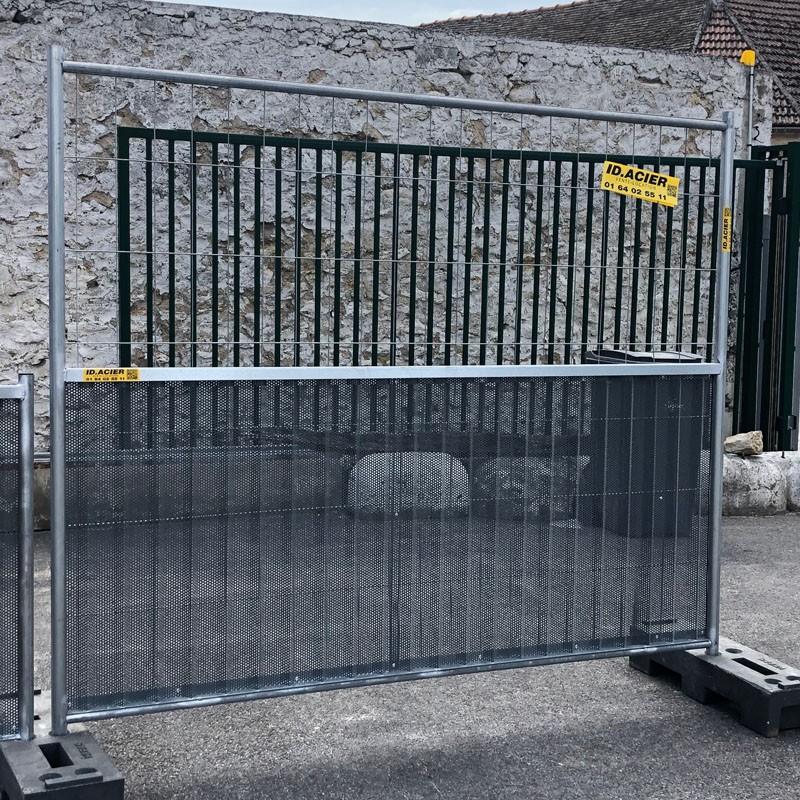 Barrière de chantier mixte perforée