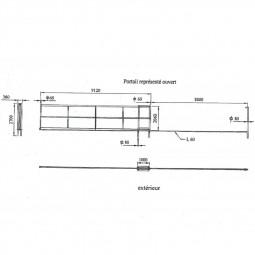 plan de portail de chantier sur mesure