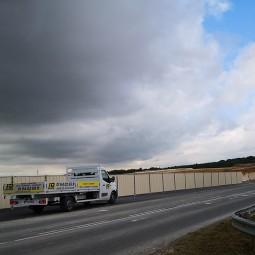 Barrière de chantier pleine en bac acier