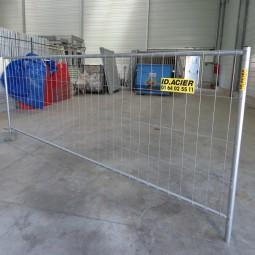 Barrière pour chantier grillagée T4 3.5m x 1.2m