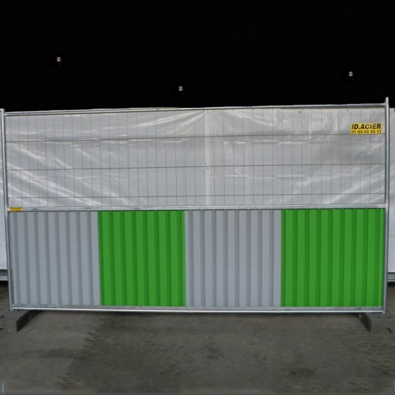 barrière de chantier mixte 3.5m x 2m