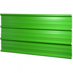Tôle bac acier de couleur verte