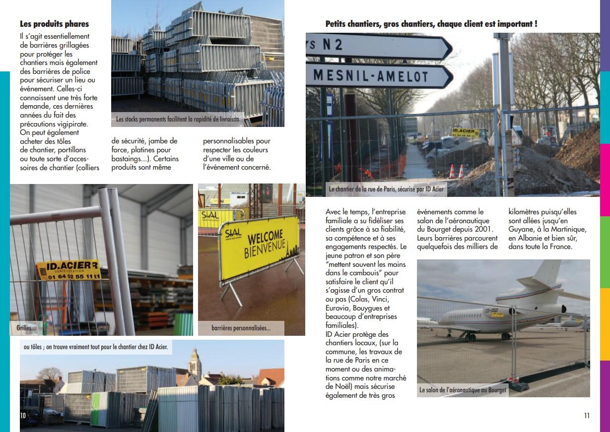 Bulletin municipal Le Mesnilois article sur ID Acier